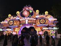 Chinese New year lanterns, illuminated night China Asia guangzhou public stock photos