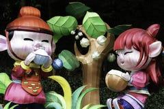 Chinese New year lanterns, illuminated night China Asia guangzhou public royalty free stock photography