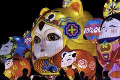 Chinese New year lanterns, illuminated night China Asia guangzhou public stock images