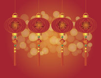 Chinese New Year Lanterns Illustration Royalty Free Stock Photos