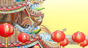 Chinese New Year Lanterns at temple Royalty Free Stock Images