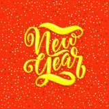 Chinese New Year lettering for cards, banners, polygraphy royalty free illustration