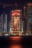 Chinese New Year lights decorations. Hong Kong. stock photo