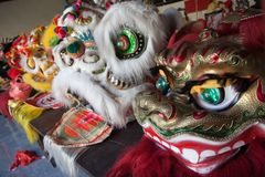 Chinese New Year, the Lion dance Stock Image