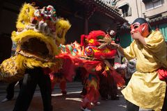 Chinese New Year, the Lion dance Stock Photography