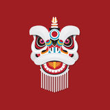 Chinese New Year Lion dance head. Vector illustration concept of Chinese New Year Lion dance head Stock Images