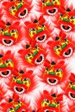 Chinese New Year Lion Heads Stock Images