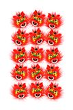 Chinese New Year Lion Heads Stock Photo
