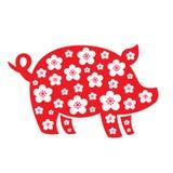 Chinese new year logo. Celebrate year of pig. This is Chinese new year logo design stock illustration