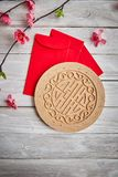 "Lucky Chinese New Year 2019. 2019 Chinese new year or lunar new year decoration on white wooden background. Text space images. with character ""FU &#x22 royalty free stock image"