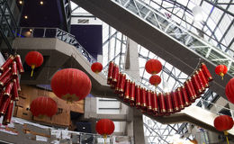 Chinese new year mall decorations Stock Images
