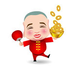 Chinese New Year  man with smile mask Stock Photography