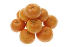 Chinese New Year Mandarins. On White Background