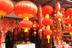 Chinese new year market in Shanghai Royalty Free Stock Photos