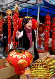 Chinese New Year Marketplace Stock Image