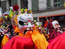Chinese New Year masks Stock Photos