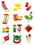 Chinese New Year. And materials Royalty Free Stock Image