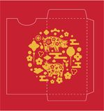 Chinese New Year Money Red Packet royalty free illustration