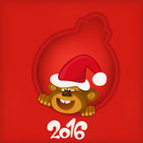 Chinese New Year monkey  decoration  ball template. Royalty Free Stock Photography
