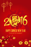 Chinese New Year of Monkey design Royalty Free Stock Photos