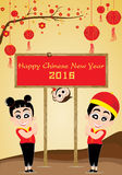 Chinese New Year of Monkey on gold background. Vector teens and colorful flower on gold background. Royalty Free Stock Image