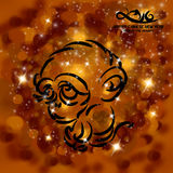 Chinese New Year of the Monkey - Greeting Card. An abstract illustration of a Chinese New Year Background vector illustration