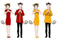 Chinese New Year Monkey People Greeting Royalty Free Stock Photos