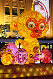 The Chinese new Year of Monkey set up in front of the luxury shopping mall in Beijing Royalty Free Stock Images