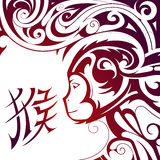 Chinese New Year Monkey symbol royalty free stock image