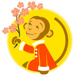 Chinese New Year. Monkey symbol of 2016 year. Illustration in vector format Stock Image