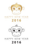 Chinese New Year of monkey 2016 Stock Image