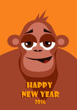 Chinese New Year of the Monkey. Vector illustration. Chinese New Year of the Monkey. Happy Chinese New Year Vector Illustration