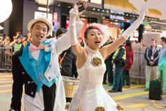 Chinese New Year Night Parade. Street Performance, Chinese New Year Night Parade Royalty Free Stock Image