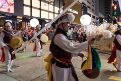 Chinese New Year Night Parade. Street Performance, Chinese New Year Night Parade Royalty Free Stock Photography