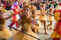 Chinese New Year Night Parade. Street Performance, Chinese New Year Night Parade Stock Photo