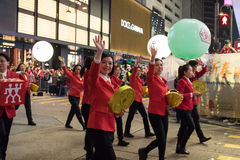 Chinese New Year Night Parade Stock Photography
