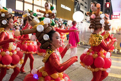 Chinese New Year Night Parade Royalty Free Stock Photos