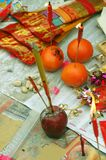 Chinese New Year Offerings. At Wong Tai Sin Temple in Hong Kong Royalty Free Stock Photos