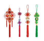 Chinese new year ornament--Chinese knots Stock Image