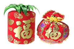 Chinese New Year Ornaments. On White Background Royalty Free Stock Photography
