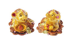 Chinese New Year Ornaments Golden Rats Royalty Free Stock Photos