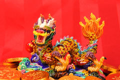 Chinese New Year Ornaments--Traditional Dancing Dragon, Royalty Free Stock Photography