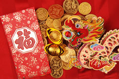 Chinese New Year Ornaments--Traditional Dancing Dragon Royalty Free Stock Images