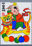 Chinese new year paintings Stock Photos
