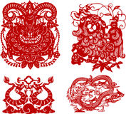 Chinese new year papercutting dragon Royalty Free Stock Photography
