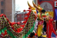 Chinese New Year Parade. This is a photo of the Chinese New Year Parade taken place in Washington, DC's Chinatown Royalty Free Stock Images