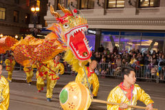 Chinese New Year Parade in Chinatown Royalty Free Stock Image
