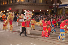 Chinese New Year Parade in Chinatown Stock Photo
