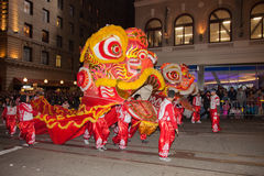 Chinese New Year Parade in Chinatown Royalty Free Stock Images
