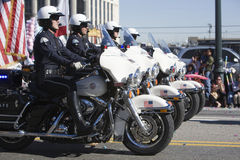 Chinese New Year Parade Cop Formation 4 Royalty Free Stock Photography